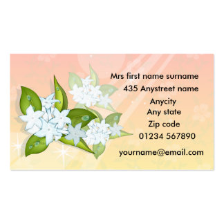 Jasmine flowers #2 2012 calendar business cards