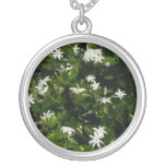 Jasmine Flowers Silver Plated Necklace