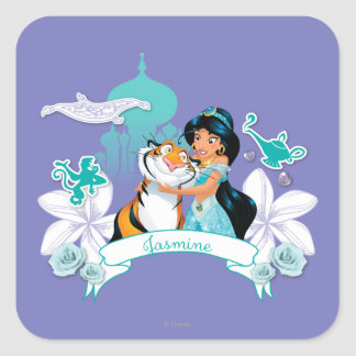 Jasmine - Gentle and Graceful Square Sticker