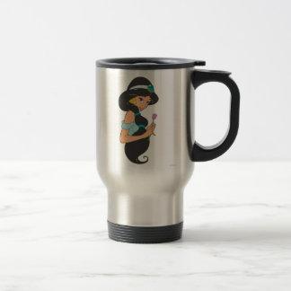 Jasmine Holding Flower 15 Oz Stainless Steel Travel Mug