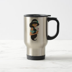Travel / Commuter Mug with Cartoon Princess Jasmine design