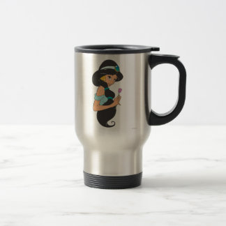 Jasmine Holding Flower Travel Mug