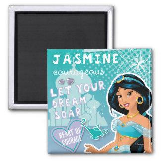 Jasmine - Let Your Dreams Soar 2 Inch Square Magnet