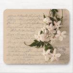 jasmine on old script handwriting mousepad