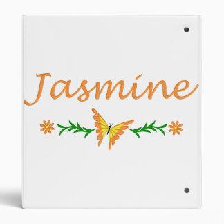 Jasmine (Orange Butterfly) 3 Ring Binder