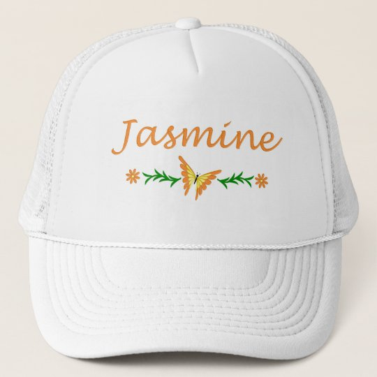 Jasmine (Orange Butterfly) Trucker Hat