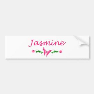 Jasmine (Pink Butterfly) Bumper Sticker