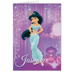 Greeting Card with Beautiful Princess Jasmine design