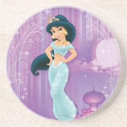 Sandstone Drink Coaster with Beautiful Princess Jasmine design