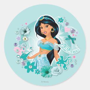 jasmine princess jasmine classic round sticker