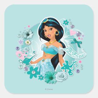 Jasmine - Princess Jasmine Square Sticker