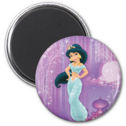 Round Magnet with Beautiful Princess Jasmine design