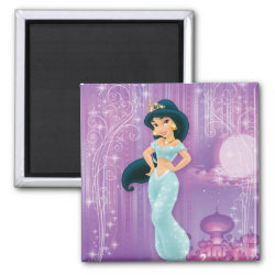 Square Magnet with Beautiful Princess Jasmine design