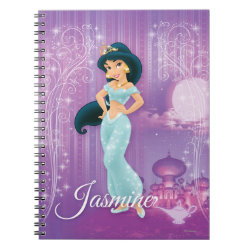 Photo Notebook (6.5' x 8.75', 80 Pages B&W) with Beautiful Princess Jasmine design
