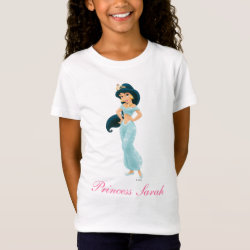 Girls' Fine Jersey T-Shirt with Beautiful Princess Jasmine design
