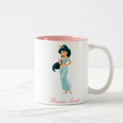 Two-Tone Mug with Beautiful Princess Jasmine design
