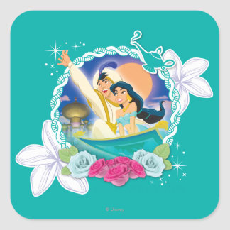 Jasmine - Ready for Adventure! Square Sticker