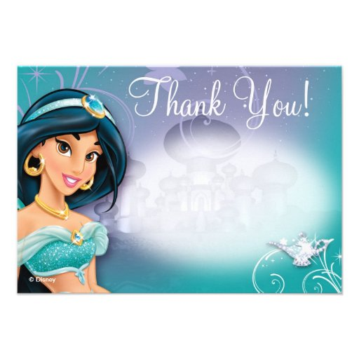 Jasmine Thank You Cards Personalized Invite