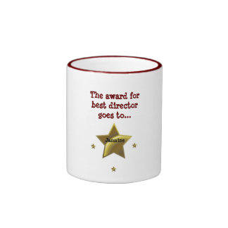 Jasmine: The Award For Best Director Ringer Coffee Mug