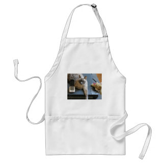 Jasmine the Siamese Cat takes care of business Adult Apron