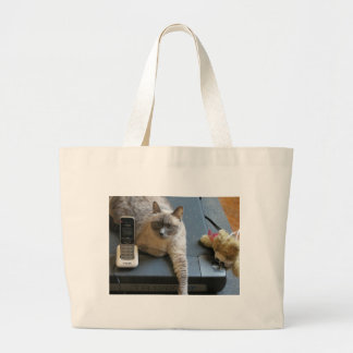 Jasmine the Siamese Cat takes care of business Tote Bag