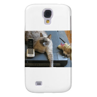 Jasmine the Siamese Cat takes care of business Galaxy S4 Covers