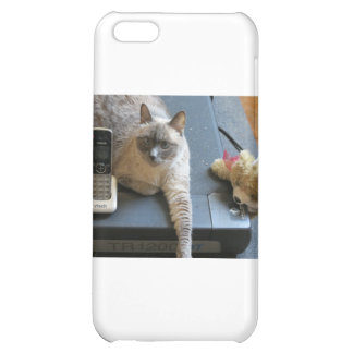 Jasmine the Siamese Cat takes care of business iPhone 5C Cover