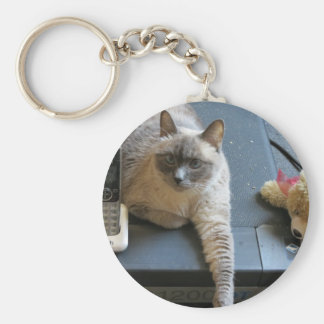 Jasmine the Siamese Cat takes care of business Key Chains