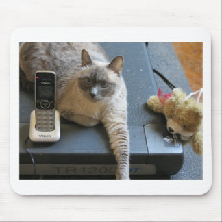 Jasmine the Siamese Cat takes care of business Mouse Pads