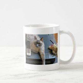 Jasmine the Siamese Cat takes care of business Coffee Mug