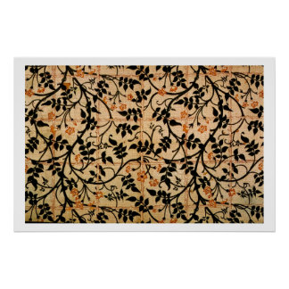 Jasmine trail curtain design, 1868-70 (printed cot poster