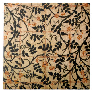 Jasmine trail curtain design, 1868-70 (printed cot large square tile