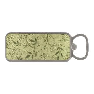 Jasmine wallpaper design 1872 magnetic bottle opener
