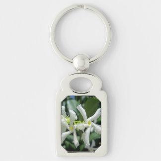 Jasmine White Tubes Flower Keychain