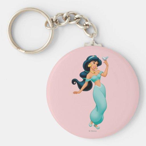 Jasmine with Bird Key Chain