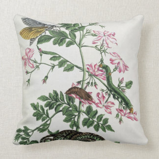 Jasmine: with snake, moth, caterpiller and chrysal throw pillow