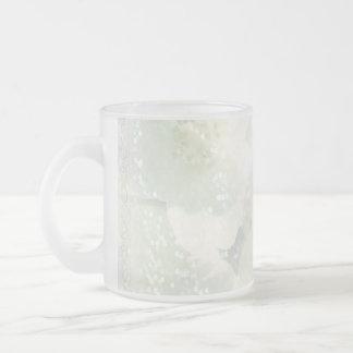 Jasmines Light Frosted Glass Coffee Mug