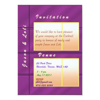Jason and Loli Golden Spark Wedding Cocktail Card