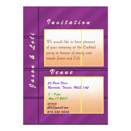 Jason and Loli Golden Spark Wedding Cocktail Custom Announcements