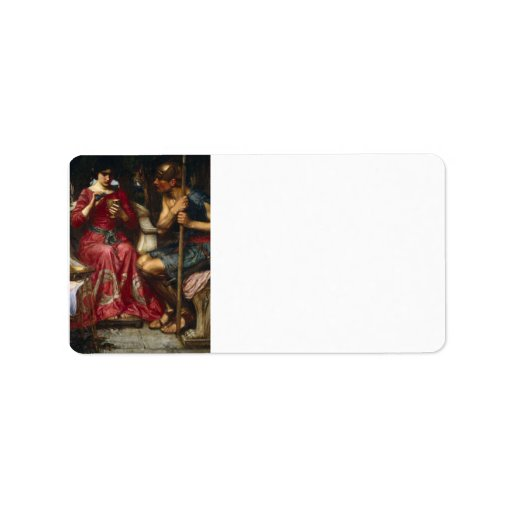 Jason and Medea by John William Waterhouse Personalized Address Labels