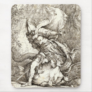 Jason and the Dragon (17th century Etching) Mouse Pad