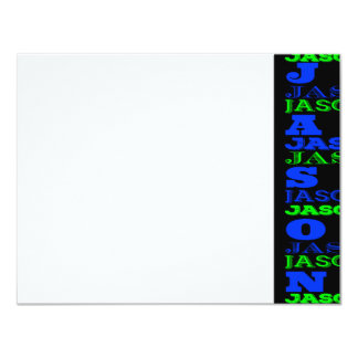 JASON Cool Modern Bar Mitzvah Thank You Card
