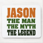 ¡Jason - el hombre, el mito, la leyenda! Tapete De Ratón