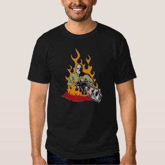 Jason la camiseta oscura básica de los hombres del remeras