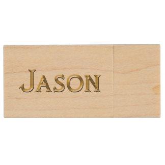 JASON Name Branded Gift for Men Wood USB 2.0 Flash Drive