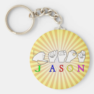 JASON NAME SIGN ASL FINGERSPELLED KEYCHAIN