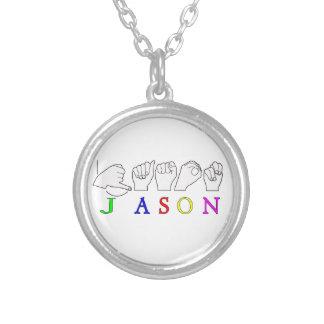 JASON NAME SIGN ASL FINGERSPELLED PENDANTS