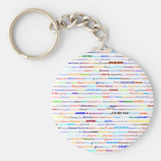 Jason Text Design II Keychain