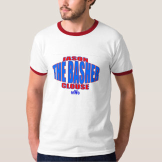 """Jason """"the Basher"""" Clouse Belt Logo Kids Ringer Tee Shirt"""