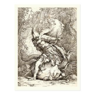 Jason y el dragón (aguafuerte del siglo XVII) Postal